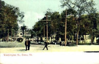 Washington St. - Barre, Vermont VT Postcard