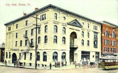 City Hall - Barre, Vermont VT Postcard