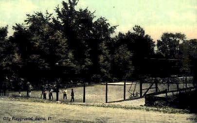 City Playground - Barre, Vermont VT Postcard