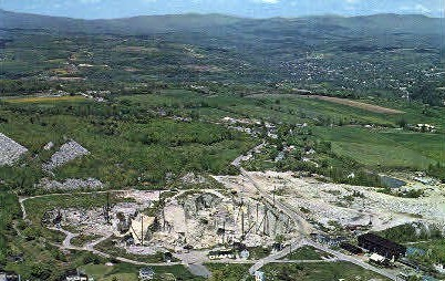 The Wells-Lamson Granite Quarry - Barre, Vermont VT Postcard