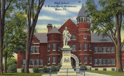 Robert Burns Mounument - Barre, Vermont VT Postcard