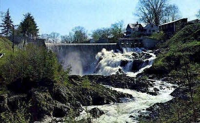 Water Falls - Bradford, Vermont VT Postcard
