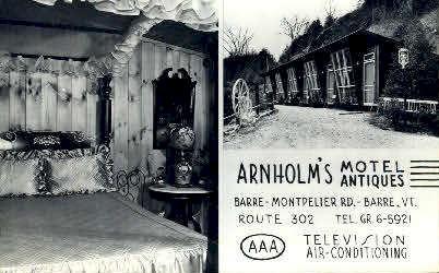 Arnholm's Motel  - Barre, Vermont VT Postcard