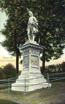 Burns' Monument - Barre, Vermont VT Postcard
