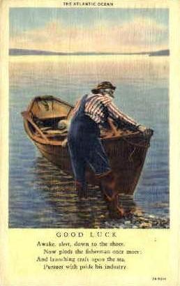 The Atlantic Ocean - Barre, Vermont VT Postcard