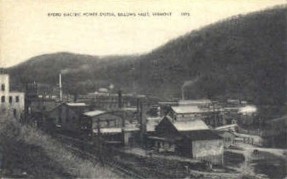Hydro Electric Power System - Bellows Falls, Vermont VT Postcard