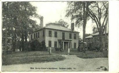Mrs. Hetty Green's Residence - Bellows Falls, Vermont VT Postcard