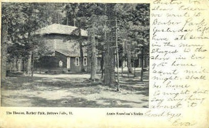 The Theatre, Barber Park - Bellows Falls, Vermont VT Postcard