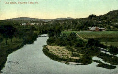 The Basin - Bellows Falls, Vermont VT Postcard