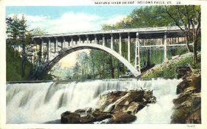 Saxtons River Bridge - Bellows Falls, Vermont VT Postcard