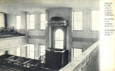 Interior, Old Church at Rockingham - Bellows Falls, Vermont VT Postcard