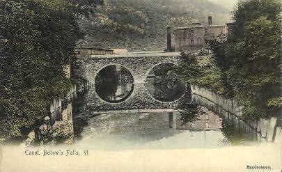Canal  - Bellows Falls, Vermont VT Postcard