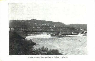 Boston & Maine Railroad Bridge - Bellows Falls, Vermont VT Postcard