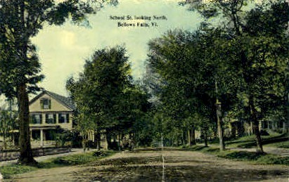 School St. - Bellows Falls, Vermont VT Postcard