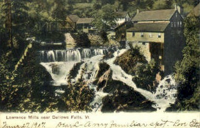 Lawrence Mills - Bellows Falls, Vermont VT Postcard