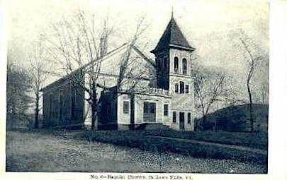Baptist Church - Bellows Falls, Vermont VT Postcard