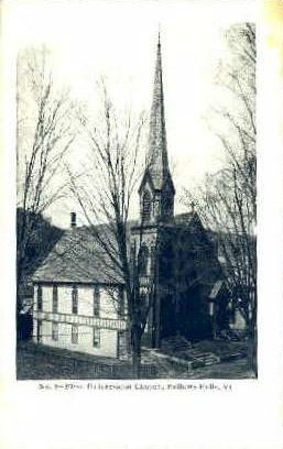 First Universalist Church - Bellows Falls, Vermont VT Postcard