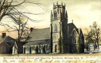 Immanuel Episcopal Church - Bellows Falls, Vermont VT Postcard