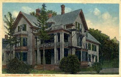 Rockingham Hospital - Bellows Falls, Vermont VT Postcard