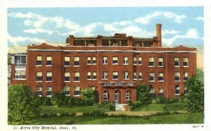 Barre City Hospital - Bellows Falls, Vermont VT Postcard