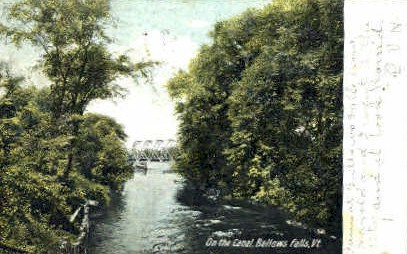 On the Canal - Bellows Falls, Vermont VT Postcard