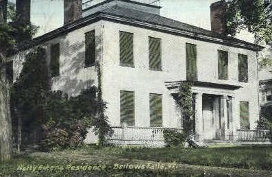Hetty Greens Residence - Bellows Falls, Vermont VT Postcard