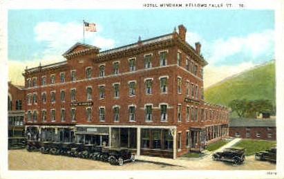Hotel Windham - Bellows Falls, Vermont VT Postcard