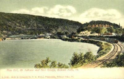 Pine Hill, Mt. Kilburn, & New Bridge - Bellows Falls, Vermont VT Postcard