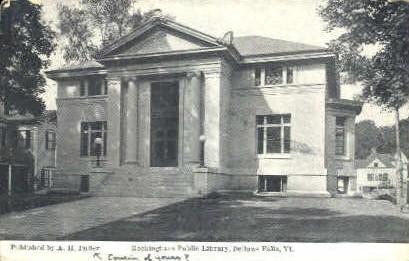 Rockingham Public Library - Bellows Falls, Vermont VT Postcard