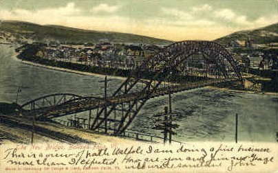 New Bridge - Bellows Falls, Vermont VT Postcard