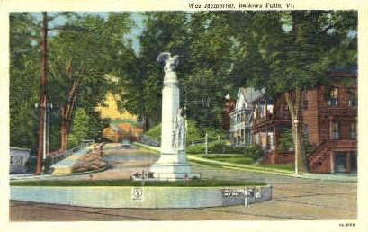 War Memorial - Bellows Falls, Vermont VT Postcard