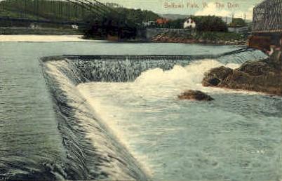 The Dam - Bellows Falls, Vermont VT Postcard