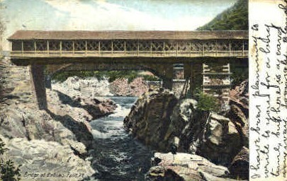Bridge - Bellows Falls, Vermont VT Postcard
