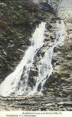 Rockingham Gorge - Bellows Falls, Vermont VT Postcard