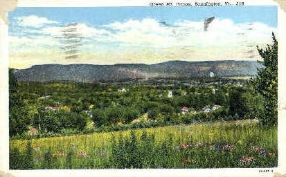 Green Mountain range - Bennington, Vermont VT Postcard