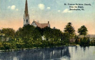 St. Francis De Sales Church - Bennington, Vermont VT Postcard