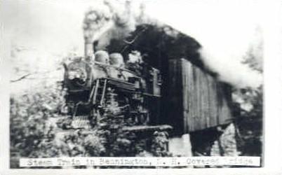 Reproduction - Steam Train - Bennington, Vermont VT Postcard