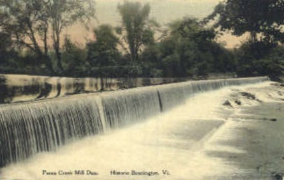 Paran Creek Mill Dam - Bennington, Vermont VT Postcard