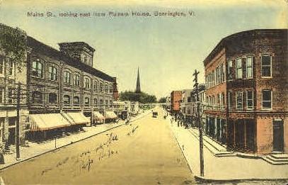 Maine Street - Bennington, Vermont VT Postcard