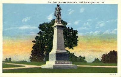 Col. Seth Warner Monument - Bennington, Vermont VT Postcard
