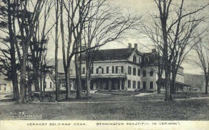Vermont Soldiers Home - Bennington Postcard