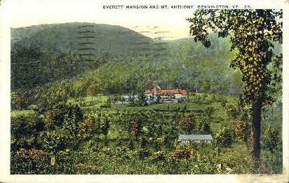 Everett Mansion - Bennington, Vermont VT Postcard