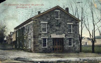 Old Blacksmith Shop - Bennington, Vermont VT Postcard