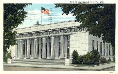 Post Office - Bennington, Vermont VT Postcard