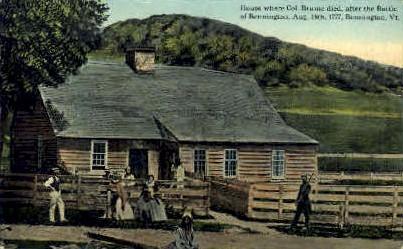 House where Col. Brume died - Bennington, Vermont VT Postcard
