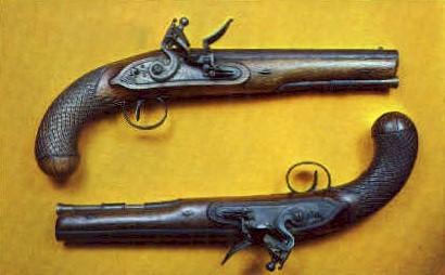 Flintlock dualing Pistols - Bennington, Vermont VT Postcard