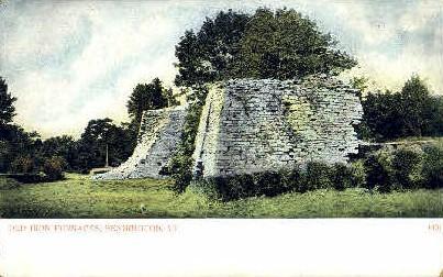 Old Iron Furnace - Bennington, Vermont VT Postcard