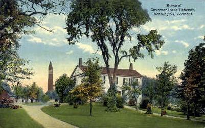 Governor Issac Tichenor Home - Bennington, Vermont VT Postcard