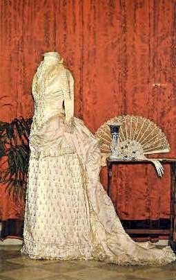 Ivory Satin Wedding Gown - Bennington, Vermont VT Postcard