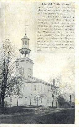 Old White Church - Bennington, Vermont VT Postcard